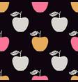 seamless pattern with apples scandinavian design vector image vector image