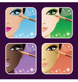 Set of makeup young vector image