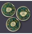 set sale decorative labels vector image