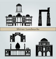shiraz landmarks vector image vector image