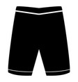 shorts the black color icon vector image vector image