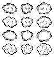 sky cloud black symbols vector image vector image