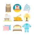 Sleep icons vector image vector image