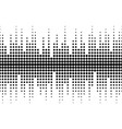 sound waves seamless pattern different sized dots vector image vector image