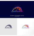 speed logo design fast speedometer logo design vector image