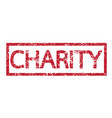 stamp charity word vector image