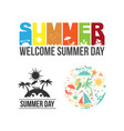 summer logo icon set design vector image