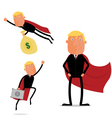 Super businessman vector image