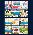 tailor and engineer farmer and photographer vector image vector image