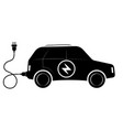 the sign of the electric suv vehicle black vector image vector image