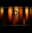 triquetra trinity knot wiccan symbol esoteric vector image vector image