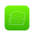 two books icon green vector image vector image