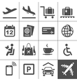 Universal airport and air travel icons vector image vector image
