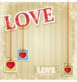 valentines grunge background vector image vector image