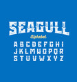 Vintage style seagull font