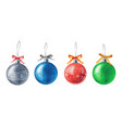 watercolor christmas balls isolated vector image vector image