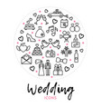 wedding round concept vector image vector image