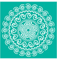 white abstract mandala green background ima vector image