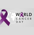 world cancer day with globe vector image