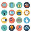 digital marketing social media icons vector image
