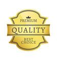 premium quality best choice vector image