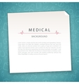 Aquamarine Medical Background vector image