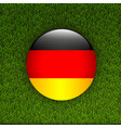 soccer green grass pattern field with germany flag vector image