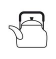 teapot isolated kitchen utensils crockery on vector image