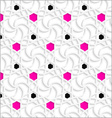 3d ornament with black and pink dots vector image