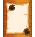 A blank paper vector image vector image