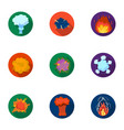 a set of icons about the explosion various vector image
