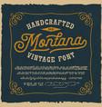 a vintage script font vector image vector image