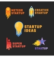 Abstract Startup Icons Symbol Signs or Logo vector image