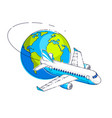 airlines air travel emblem or with plane airliner vector image vector image