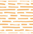 artistic seamless pattern with orange brush vector image vector image