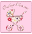 Baby shower pink vector image vector image