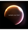 Blue light effects on round placeholder for your vector image vector image
