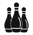 bowling skittles icon simple style vector image vector image