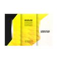 business tri-fold flyer template corporate brochu vector image
