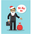 businessman in santa claus costume and new year vector image