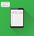 checklist with tablet computer icon business vector image vector image