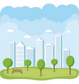 city and park vector image