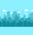 city silhouette background town downtown on blue vector image vector image