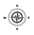compass sketch vector image vector image