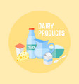 dairy products flat design banner vector image
