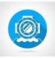 Diving helmet round icon vector image