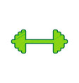 dumbbell weights sign lemon scribble icon vector image vector image