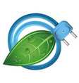 eco electrical plug vector image