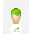 Eco green man concept vector | Price: 1 Credit (USD $1)
