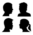 face profile silhouettes vector image
